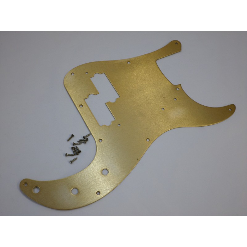 Fender Gold Anodized Aluminum Pickguard Road Worn Relic 50s